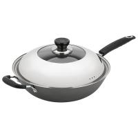 美厨(maxcook)精铸铁锅 32cmTG-132(带盖 可用电磁炉 无涂层 可用铁铲)