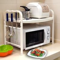 宝优妮 厨房微波炉架子置物架 厨具收纳架 烤箱架不锈钢落地储物架DQ1210-C