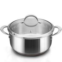 铂帝斯Bodeux 皇室汤锅24cm 纯铜芯迅热304不锈钢 煲炖汤锅具