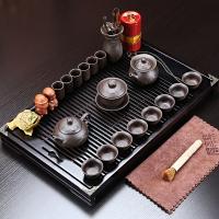 言艺 茶具套装 紫砂功夫茶具套装实木茶盘