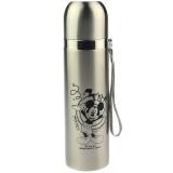 迪士尼保溫杯 男女士樂趣子彈頭不銹鋼學生兒童便攜水杯子500ML本色