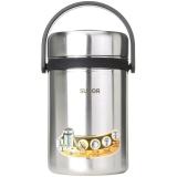 苏泊尔304不锈钢大容量保温桶学生儿童保温饭盒2.5L保温提锅KF25A1