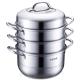 苏泊尔易存储304不锈钢三层复底蒸锅燃气煤气电磁炉通用锅具蒸笼SZ26B4