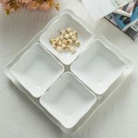 瓷工巧匠 欧式水果盘干果盘 创意时尚多格糖果盘点心盘五只