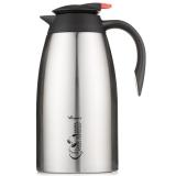 華亞 真空壺 保溫壺 家用暖瓶暖壺水壺 不銹鋼內膽大容量咖啡壺保溫瓶2L本色 HK-2000