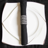 迪奥百合 骨瓷西餐套盘 S流线白金手描边出口级 8寸+10寸牛排盘、蛋糕盘