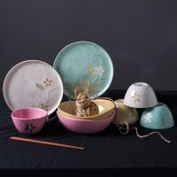亿嘉IJARL 创意陶瓷12头韩式餐具套装 雅韵 B款 FBLY300XDS12B