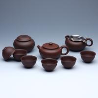 品茶忆友 紫砂茶具套装 宜兴手工紫砂茶壶紫砂茶杯套装