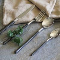 迪奥百合 主厨系列黑柄不锈钢西餐刀叉勺四件套礼盒
