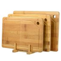 佳驰 竹制分类砧板 切菜板 三件套JC-1860 (34*24*1.7+32*22*1.7+30*20*1.7cm)送砧板架