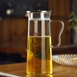 奇高冷水壶 耐热玻璃凉杯(1.0L)创意凉水壶耐热玻璃带刻度果汁壶 CK-224L
