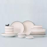 無名印象 黑线新骨瓷 17头 餐具套装