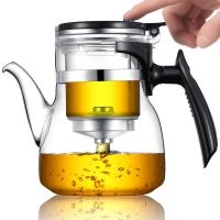 唯成  800ml耐熱玻璃內膽飄逸杯 全玻璃不銹鋼過濾可拆卸內膽沖茶器茶水分離茶壺 長嘴款 GL800