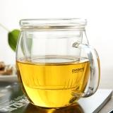 品茶憶友 玻璃茶具 茶杯耐熱玻璃杯水杯茶漏茶濾三件杯 p-05凝露杯 450ml