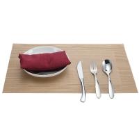 欧橡OAK PVC欧式西餐垫餐桌垫餐垫加厚隔热垫盘垫碗垫桌布 金黄色二件套 C011