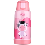 富光 貝貝樂雙蓋真空不銹鋼兒童保溫壺600ml 粉色(WFZ1021-600)