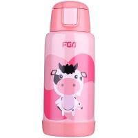 富光 贝贝乐双盖真空不锈钢儿童保温壶600ml 粉色(WFZ1021-600)