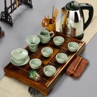 常生源 整套功夫茶具 汝窑开片 茶盘茶壶茶杯茶具套装 茶缘青云直上套装