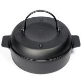 铸味(Jill May)22cm铸铁烤锅土豆红薯烤锅