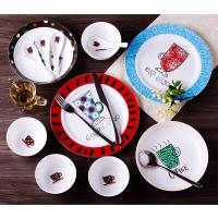 瓷工巧匠 陶瓷碗碟套装景德镇卡通餐具套装 韩式陶瓷碗碟盘20头