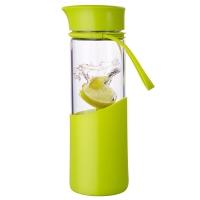 MIGO玻璃水杯子0.5L带盖便携泡茶杯车载旅行玻璃瓶男女士