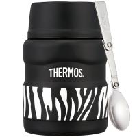 THERMOS膳魔师焖烧罐470ml高真空不锈钢食物罐SK-3000 ZBK(个性斑马)