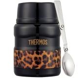 THERMOS膳魔师焖烧罐470ml高真空不锈钢食物罐SK-3000 LBK(神秘黑豹)