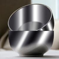 阳光飞歌 304不锈钢碗 韩式不锈钢双层隔热防烫儿童碗2只装 1185