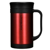 乐扣乐扣(locklock)真空马克杯商务杯子不锈钢水杯红色400mL保温杯LHC4030R