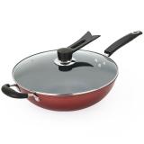 美厨(maxcook)不粘炒锅 精铁带盖32cm MCC-065 (可用电磁炉 不粘涂层  少油烟)