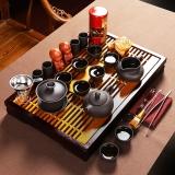 尚帝(shangdi)花开富贵茶盘 乌紫砂茶具套装