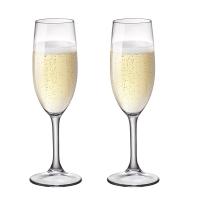 波米歐利(Bormioli Rocco)意大利進口鋼化玻璃香檳杯高腳杯170mL*2支裝