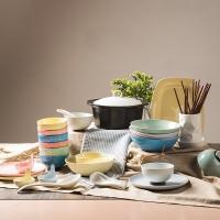 剑林 创意时尚日式简约陶瓷碗盘碟餐具套装46件套 和玉