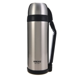 哈爾斯2000ml不銹鋼真空保溫壺旅行壺廣口戶外水瓶LG-2000-5本色