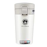 邦达不锈钢冬日暖阳系列保温杯咖啡杯情侣杯子办公杯 白色 300ml