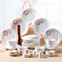 瓷魂 餐具套装56头景德镇陶瓷韩式碗碟套装盘子碗筷套装 红袖添香
