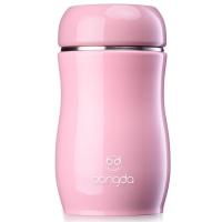 邦达儿童保温杯女士杯可爱不锈钢时尚便携迷你学生创意杯子 粉色 230ml
