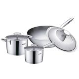 苏泊尔supor 套装锅厨房炒锅汤锅奶锅不锈钢锅具雅致三件套TP1510E