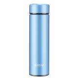 绿珠lvzhu 450ml食品级304不锈钢真空保温杯 带茶隔泡茶便携茶水杯子K153蓝色