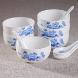 韵唐 陶瓷餐具套装 6碗6勺(青花12头)