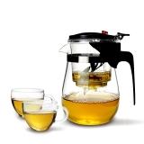 金鑲玉 玻璃茶具套組 飄逸杯1號套裝 耐熱耐高溫可拆洗內膽玲瓏茶杯茶壺