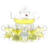 一屋窯 耐高溫玻璃茶具 禮盒套裝 花草茶具五件套 四杯一壺