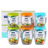 Glasslock 韩国进口玻璃储物罐保鲜盒收纳罐密封罐 六件套/IG759