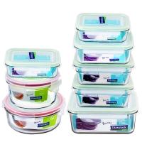 Glasslock韩国进口钢化玻璃保鲜盒耐热微波炉饭盒 八件套/GL8-03