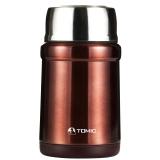 特美刻(TOMIC)保温饭盒 不锈钢焖烧壶焖烧杯保温桶便当盒 1HBS3052 咖啡色