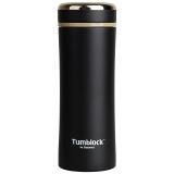 Glasslock 保温杯304不锈钢水杯茶杯男女款情侣杯子GTL2203B 400ml