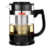 紫丁香 950ml加厚耐熱玻璃茶具可拆洗304不銹鋼濾膽泡茶壺帶底托花茶壺