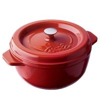菲仕乐 汤锅炖锅 阿卡娜铸铁锅圆形19厘米2.0升红色