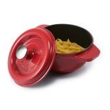 菲仕乐(阿卡娜铸铁锅圆形17厘米1.5升红色)汤锅炖锅