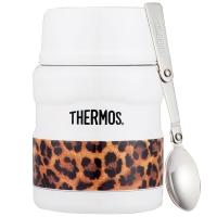 THERMOS膳魔师焖烧罐470ml高真空不锈钢食物罐SK-3000 LWH(经典白豹)